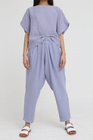 Black Crane Carpenter Pants in Lavender on model view front