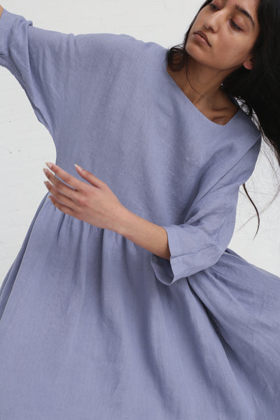 Black Crane Tradi Dress in Lavender on model view front