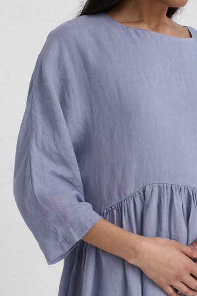 Black Crane Tradi Dress in Lavender on model view sleeve detail