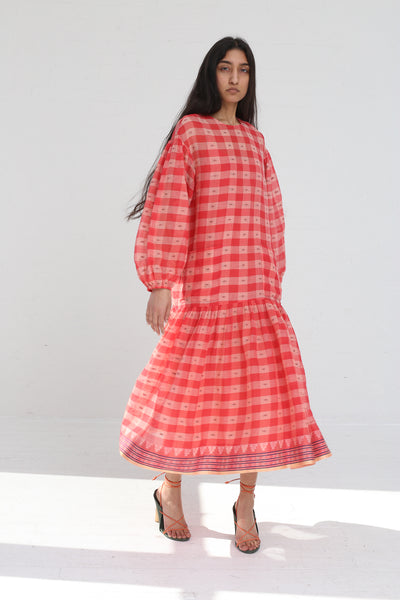 Ulla Johnson Alvina Dress in Hibiscus on model view front