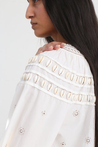 Tana Blouse in Blanc