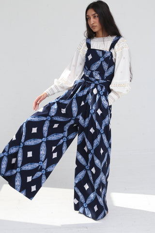 Ulla Johnson Kiko Jumpsuit in Indigo on model view front