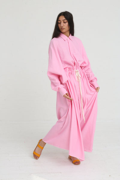 Marrakshi Life Oversized Long Shirt w/ Drawstring in Cosmos on model view front