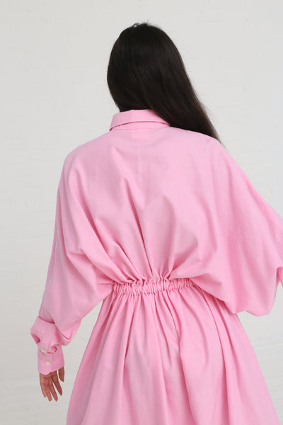 Marrakshi Life Oversized Long Shirt w/ Drawstring in Cosmos on model view back detail
