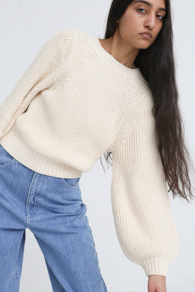 Clement Sweater in Natural on model view front