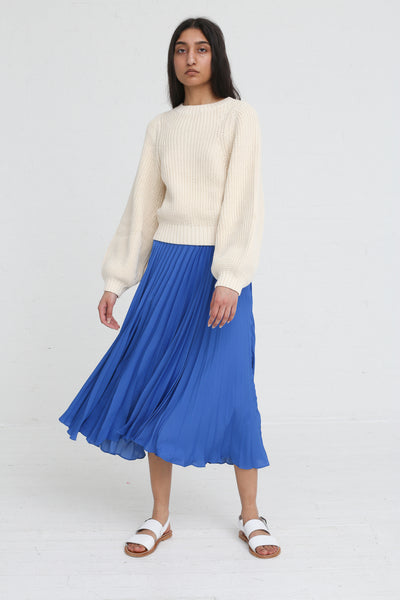 Shaina Mote Aster Skirt in Antique Blue on model view front