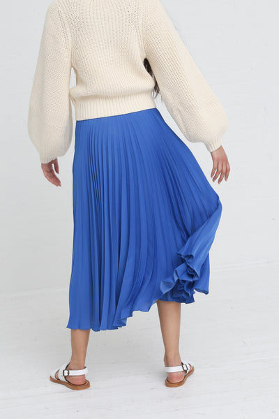 Shaina Mote Aster Skirt in Antique Blue on model view back