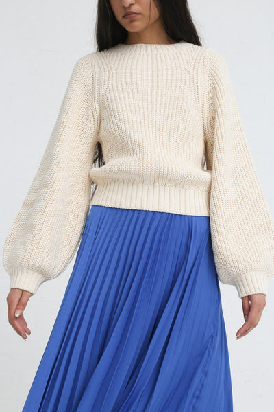 Shaina Mote Aster Skirt in Antique Blue on model view front detail