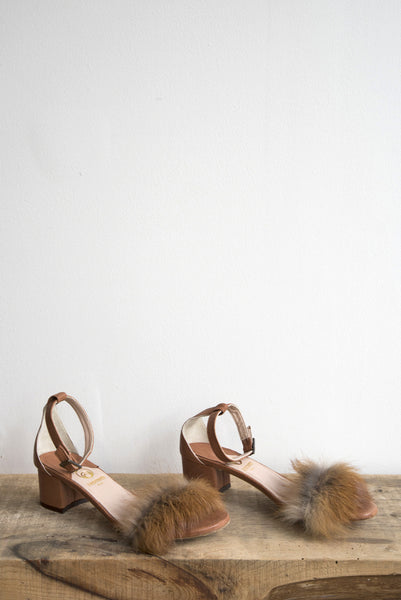 Brother Vellies Dhara Tufted Sandal in Whiskey | Oroboro Store | Brooklyn, New York