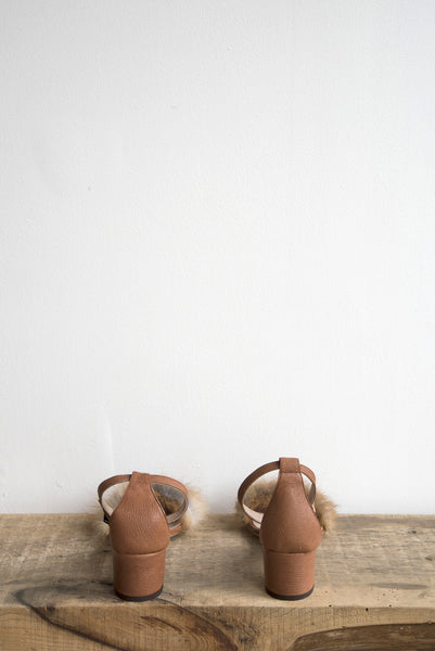 Dhara Tufted Sandal in Whiskey