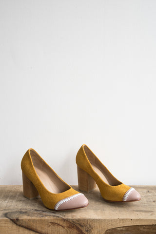 A Détacher Sparrow Pump in Marigold | Oroboro Store | Brooklyn, New York