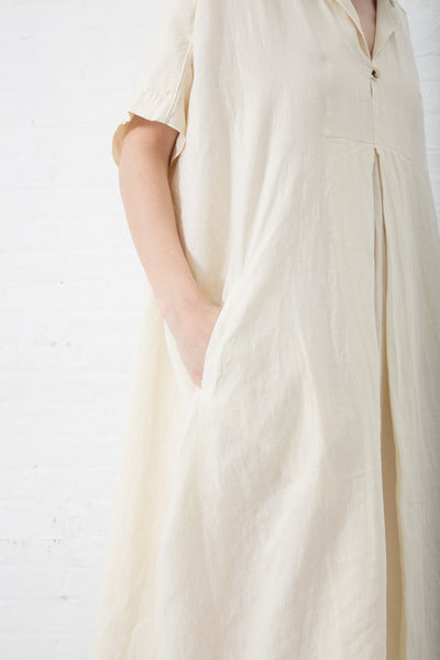 Black Crane Kite Dress in Cream | Oroboro Store | New York, NY