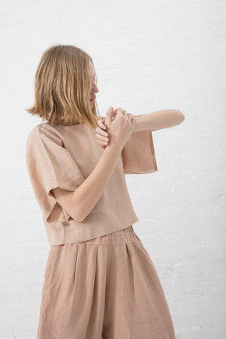 Black Crane Petal Top in Peach | Oroboro Store | New York, NY