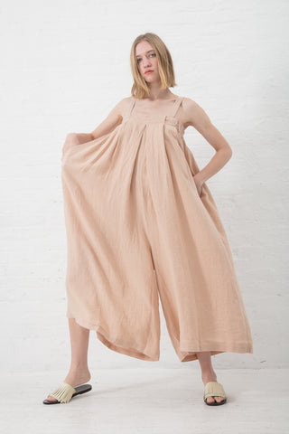 Black Crane Wide Jumper in Peach | Oroboro Store | New York, NY