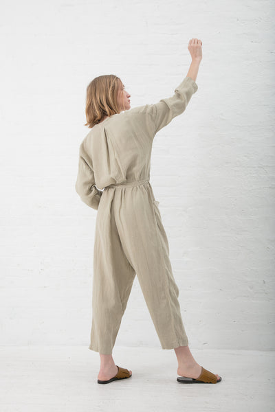 Black Crane Painter Jumpsuit in Cement | Oroboro Store | New York, NY