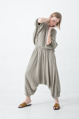 Black Crane Xiao Jumpsuit in Sand | Oroboro Store | New York, NY