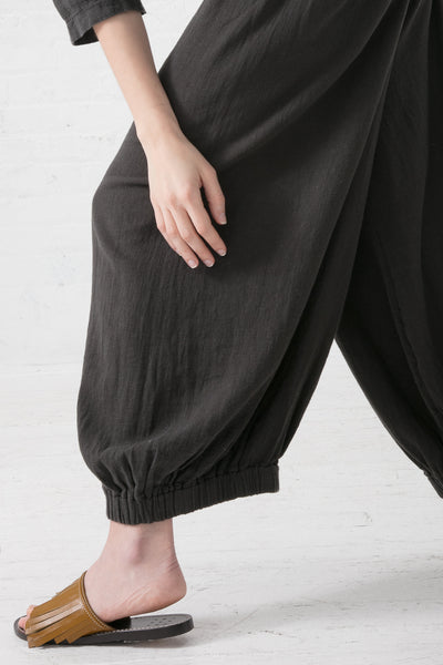 Black Crane Bulb Pants in Charcoal | Oroboro Store | New York, NY