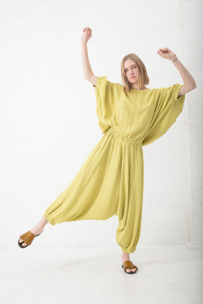 Black Crane Xiao Jumpsuit in Lemon | Oroboro Store | New York, NY
