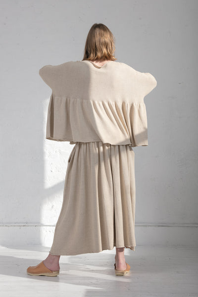 Lauren Manoogian Tier Pullover in Natural | Oroboro Store | New York, NY