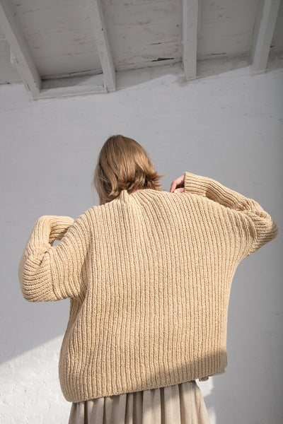 Lauren Manoogian Rib Boucle Pullover in Straw | Oroboro Store | New York, NY