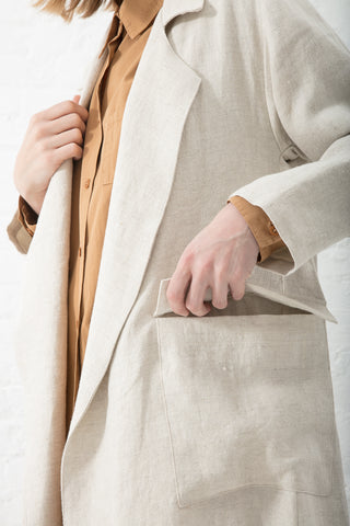Jesse Kamm Fox Trench in Dune | Oroboro Store | New York, NY