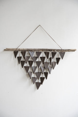 Heather Levine Ceramic Triangle Wall Hanging | Oroboro Store | Brooklyn, New York
