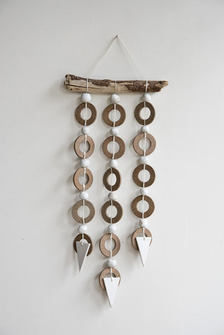 Heather Levine Ceramic Ring Strands Wall Hanging | Oroboro Store | Brooklyn, New York