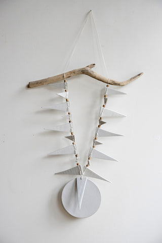 Heather Levine Ceramic Triangles & Circle Wall Hanging | Oroboro Store | Brooklyn, New York