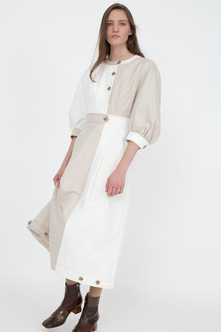 Rejina Pyo Rumi Dress in Ivory Tonal Mix | Oroboro Store | New York, NY