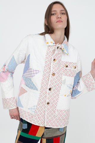 Bode Fan Quilting Workwear Jacket in Multi | Oroboro Store | New York, NY