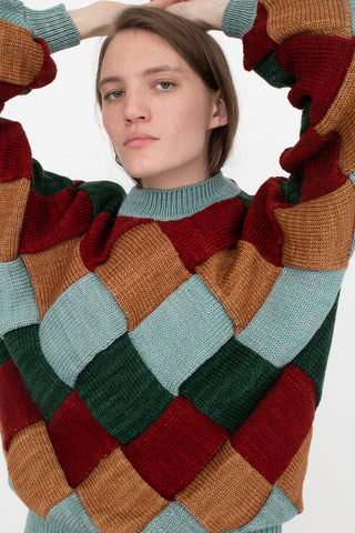 Misha and Puff Adult Entrelac Sweater in Laurel | Oroboro Store | New York, NY