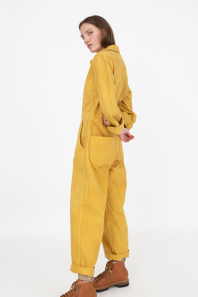 As Ever Zip Jumpsuit in Goldenrod Full Body Side View