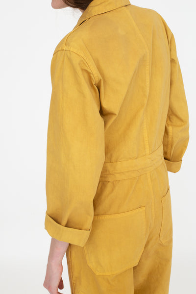 As Ever Zip Jumpsuit in Goldenrod Back View
