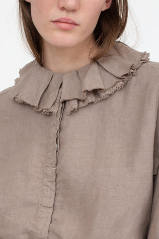 nest Robe Leavers Lace Ruffle Collar Blouse in Grey | Oroboro Store | New York, NY