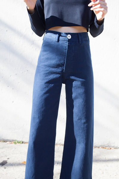 Jesse Kamm Sailor Pant in Midnight | Oroboro Store | Brooklyn, New York
