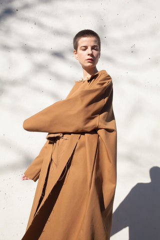 Ashley Rowe Coat in Tan | Oroboro Store | Brooklyn, New York