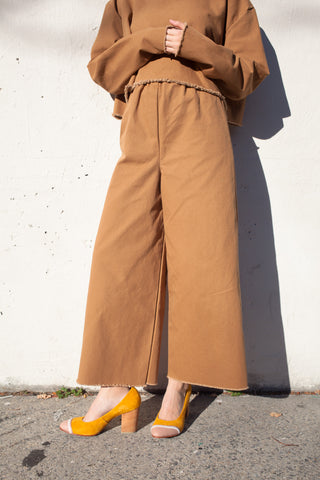 Ashley Rowe Long Pant in Tan
