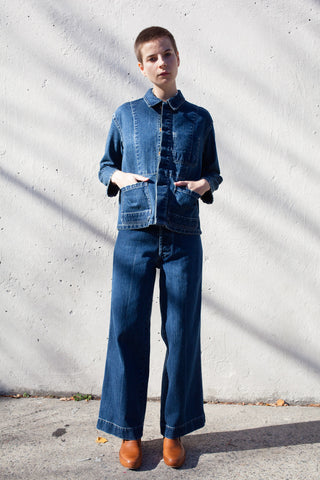 Caron Callahan Stewart Pant in Denim | Oroboro Store | Brooklyn, New York