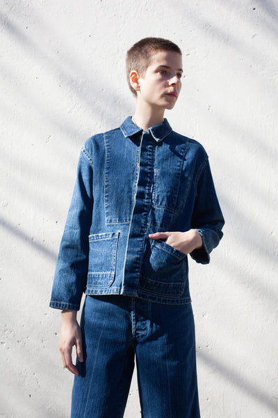 Caron Callahan Krasner Jacket in Denim | Oroboro Store | Brooklyn, New York