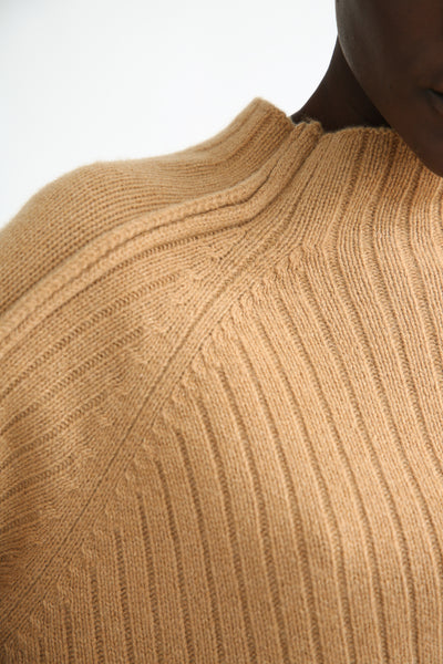 Rejina Pyo Erin Sweater in Beige neck and shoulder detail