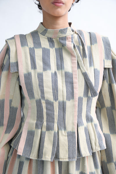 Ulla Johnson Hiroki Jacket in Sand front detail