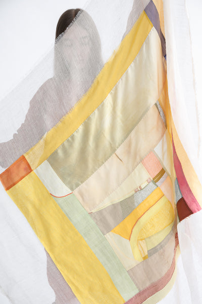 Thompson Street Studio One of a Kind Patchwork Piece in Yellow