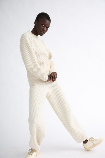 Baserange Tauro Pant in Off-White side