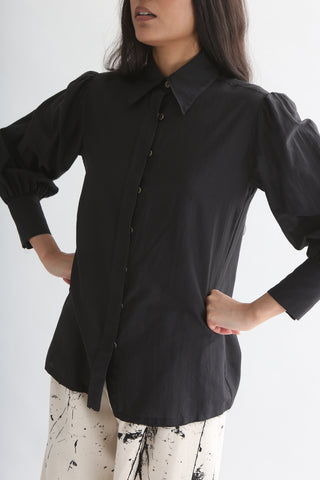 Annother [Archive] Charcoal Shirt in Cotton Silk front