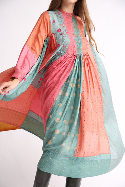 Injiri Silk Dress in Multi front