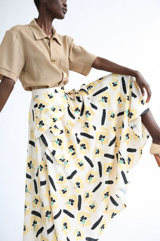 Rejina Pyo Lena Skirt in Flower Print side