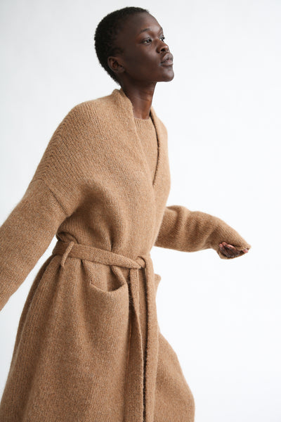 Lauren Manoogian Fluffy Robe Coat in Incense pockets