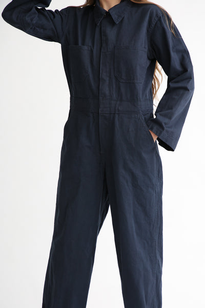 As Ever Zip Jumpsuit in Midnight front