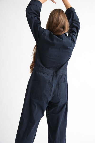 As Ever Zip Jumpsuit in Midnight back