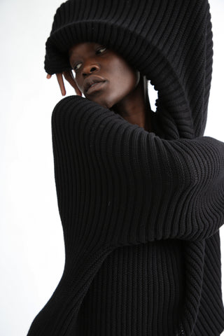 Baserange Kai Sweater in Black sleeve detail